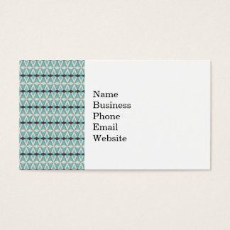 Pretty Blue Gray Aztec Weaving Pattern Gifts Business Card