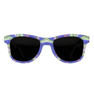 Pretty Blue Green Mosaic Pattern Eyewear