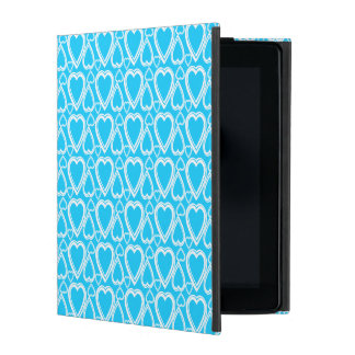 Pretty Blue Hearts Pattern Mobile Case iPad Covers