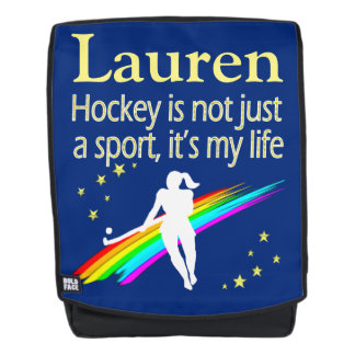PRETTY BLUE HOCKEY LIFE BACK PACK