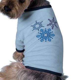 Pretty blue hue snowflakes pet tshirt
