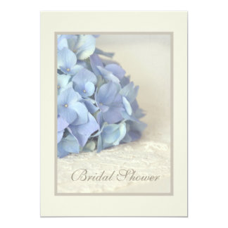 Pretty Blue Hydrangea Bridal Shower Invitations