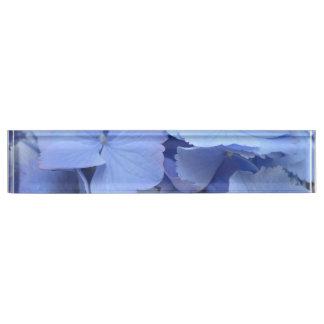 Pretty Blue Hydrangea Name Plate