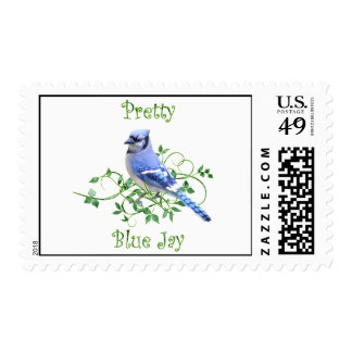 Pretty Blue Jay Postage Stamps
