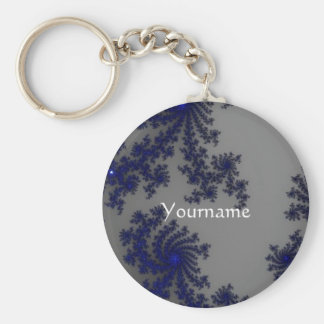 Pretty blue Keychain with yourname