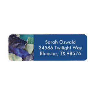 Pretty Blue Label Return Address Label