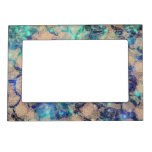 Pretty Blue Lace Roses Magnetic Picture Frame at Zazzle