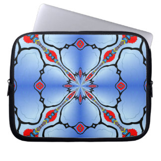 Pretty Blue Laptop Zip Case Artistic Gift Laptop Sleeve