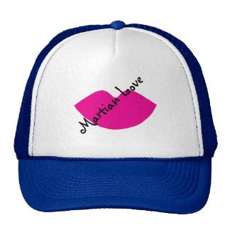 Pretty Blue Lipstick Alien Trucker Hat