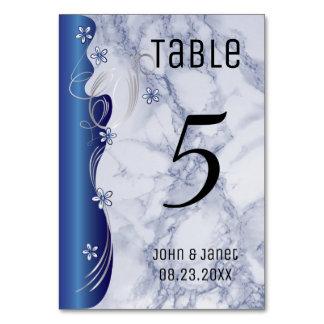 Pretty Blue Marble Design Card