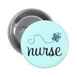 Pretty Blue Nurse Button