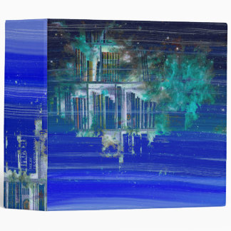 Pretty Blue Paint Splotch Fantasy Book Shelf Binder