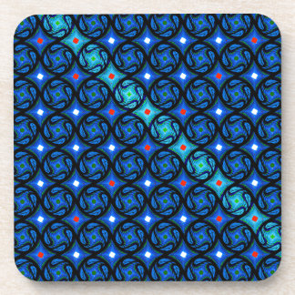 Pretty Blue Pattern Beverage Coaster