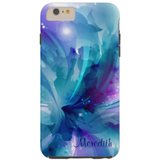 Pretty Blue & Purple Abstract Flower iPhone 6 Case