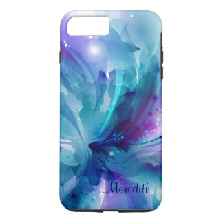 Pretty Blue & Purple Abstract Flower iPhone 7 Case
