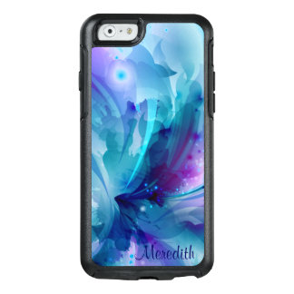 Pretty Blue & Purple Abstract Flower OtterBox iPhone 6/6s Case