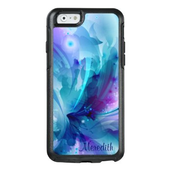 Pretty Blue & Purple Abstract Flower Otterbox Iphone 6/6s Case by BubbleWater at Zazzle