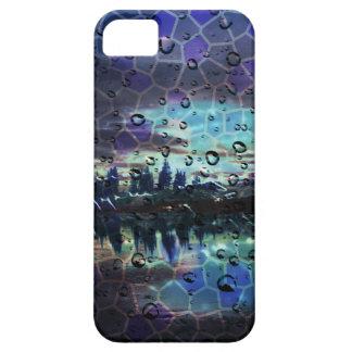 Pretty Blue & Purple Forest Rain Mosaic Landscape iPhone 5 Case