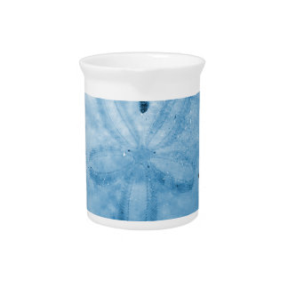 Pretty Blue Sand Dollar Drink Pitcher