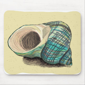 Pretty Blue Shell Mouse Pad