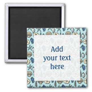 Pretty Blue Shell Starfish Sea Pattern Customize Magnet
