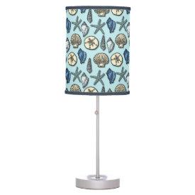 Pretty Blue Shell Starfish Sea Pattern Lamps
