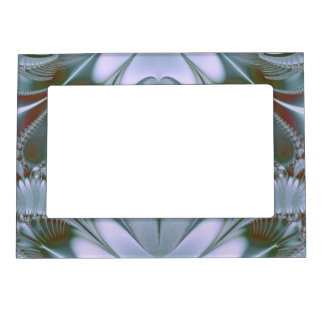 Pretty Blue Silk Look Magnetic Photo Frame