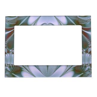 Pretty Blue Silk Look Magnetic Photo Frame