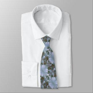 Pretty Blue Silk Look Neck Tie