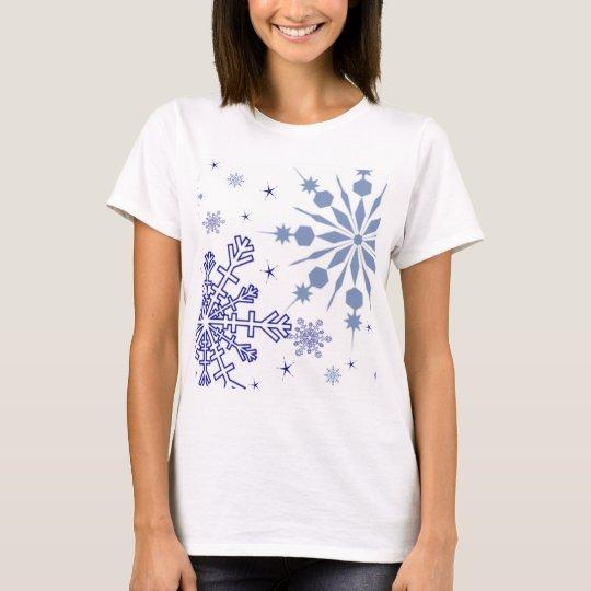 Pretty Blue Snowflakes T-Shirt