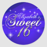 Pretty Blue Sparkle Sweet Sixteen Sticker