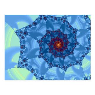 Pretty Blue Spiral Icicle Design Postcard