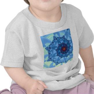 Pretty Blue Spiral Icicle Design Tee Shirt