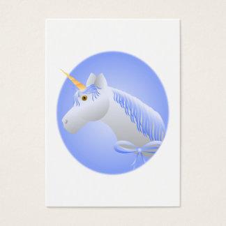 Pretty Blue Unicorn Business Card