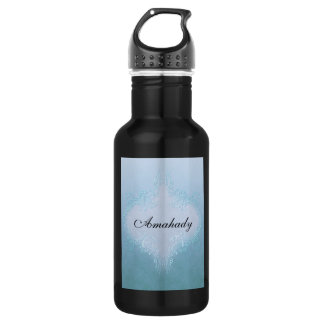 Pretty Blue Water Bottle