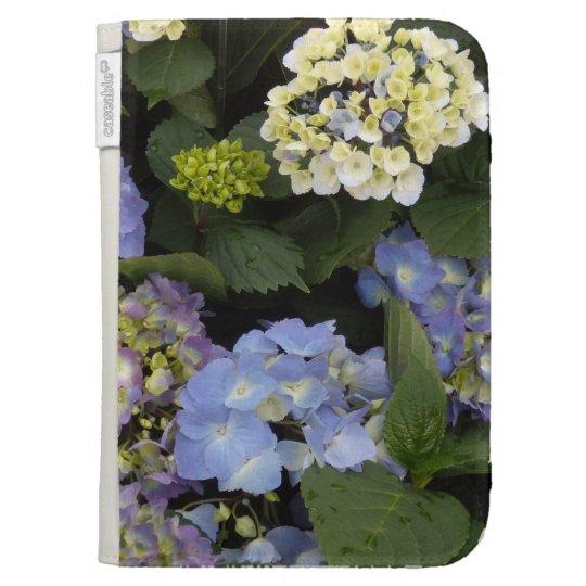 Pretty Blue-White Hydrangeas Kindle 3 Cover