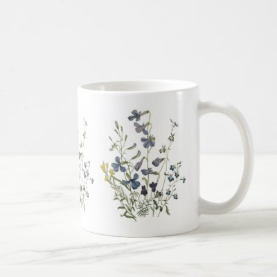 Pretty Blue Wildflowers Coffee Mug
