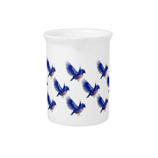 Pretty Bluebirds Nature Design Pitchers