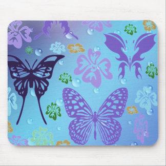 Pretty Blues Butterflies Mouse Pad