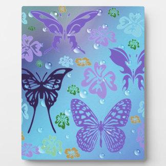 Pretty Blues Butterflies Plaque