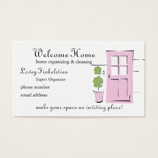 Pretty Blush Pink Door Business Card