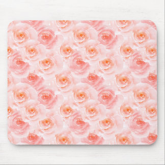 Pretty Blush Pink Watercolor Roses Mouse Pad