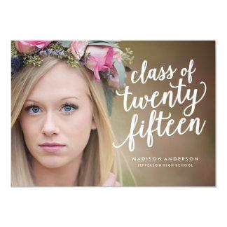 Pretty Boho in Kelly Green   Graduation Invitation