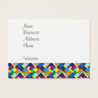Pretty Bold Colorful Diagonal Quilt Pattern Business Card