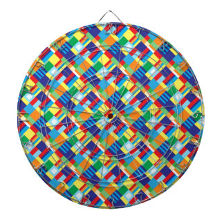 Pretty Bold Colorful Diagonal Quilt Pattern Dartboard
