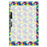 Pretty Bold Colorful Diagonal Quilt Pattern Dry-Erase Whiteboard