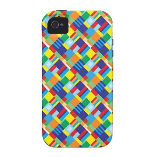 pretty bold colorful diagonal quilt pattern iphone 4  4s