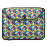 Pretty Bold Colorful Diagonal Quilt Pattern Sleeves For MacBook Pro