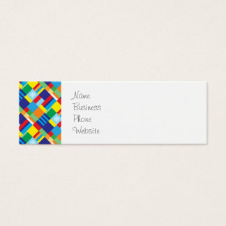 Pretty Bold Colorful Diagonal Quilt Pattern Mini Business Card