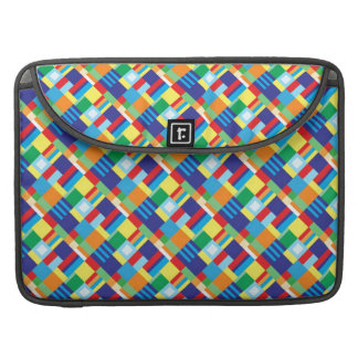 Pretty Bold Colorful Diagonal Quilt Pattern Sleeve For MacBooks